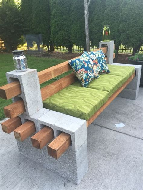 bench  cinder blocks  amazing ideas