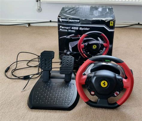 The thrustmaster 458 spider is one of the least expensive racing wheels for xbox one. Thrustmaster Xbox One Ferrari 458 Spider Racing Wheel   in Great Notley, Essex   Gumtree