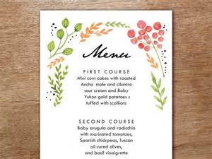 wedding invitations details card menu template watercolor flowers