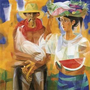 Vendors from the market place - Vicente Manansala ...
