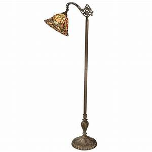 Dale tiffany bochner downbridge 64 in antique brass floor for Babyliss floor lamp antique brass