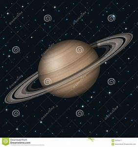 Planet Saturn in space stock vector. Illustration of alien ...