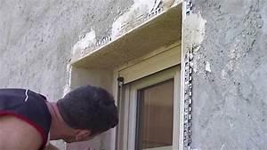enduit facade tableaux fenetre et porte youtube With faire un cadre de porte