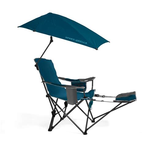 reclining folding chair with footrest sportbrella portable cing chair folding recliner seat