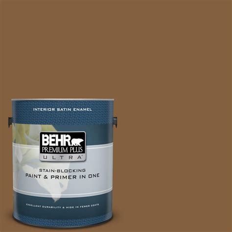 behr premium plus ultra 1 gal mq2 10 burnt caramel satin