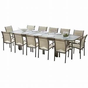 Salon De Jardin 8 Personnes Pas Cher : table verre 12 personnes ~ Dailycaller-alerts.com Idées de Décoration