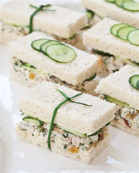 tea sandwiches herbed chicken salad tea sandwiches southern lady magazine party food pinterest tea