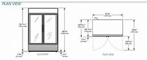 2 Door True Cooler  New  Aa Store Fixtures