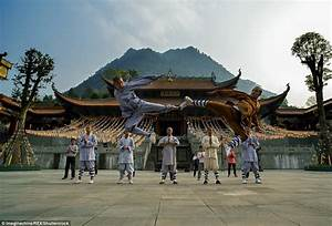 Images Show Western Shaolin Monks Practising Kung Fu At Their Temple
