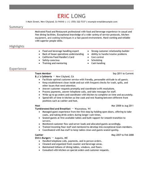 resume objective exles for service crew resume exles food service deli attendant cover letter awe inspiring food service resume 12