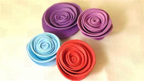 Rosas hechas con Foami o Goma Eva en pocos minutos YouTube