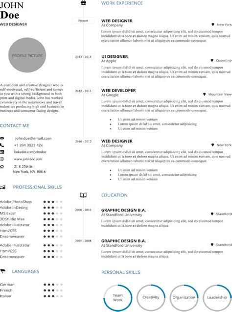 simple infographic resume template buy cv template
