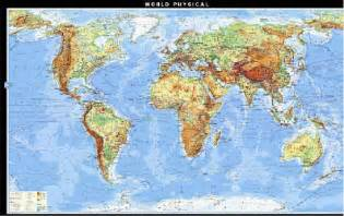 Detailed Physical World Map