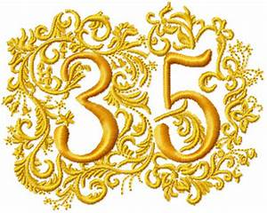 35th anniversary With 35th wedding anniversary symbol