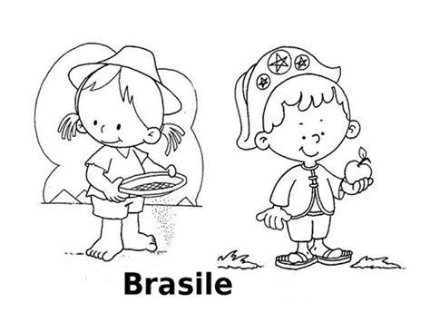 disegni bambini mondo da colorare disegni da colorare i bambini nel mondo brasile