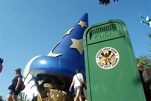 Trash Can in front of Sorcerer Mickey Hat, Disney's ...