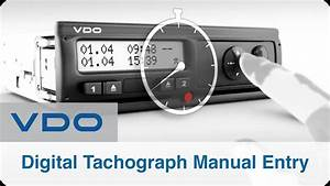 Digital Tachograph Manual Entry