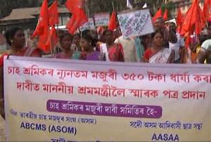 Tea garden workers take out protest rally in Kokrajhar ...