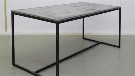 tisch mit betonplatte tisch beton metall baltswerkstatt