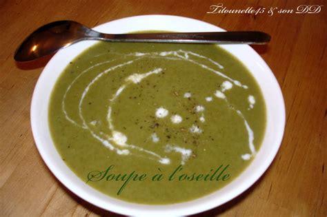 cuisiner l oseille fraiche soupe a l 39 oseille au thermomix les recettes de