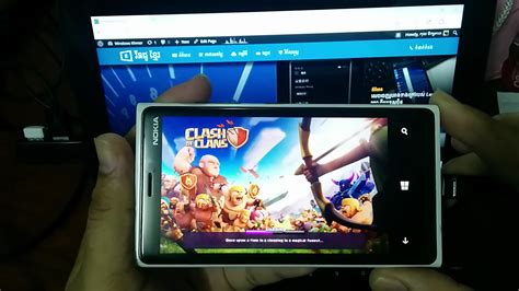 មកម លវ ដ អ បង ហ ញព ក រល ង clash of clan ល windows 10 mobile