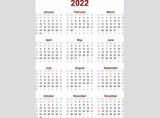 2022 Calendar month printable calendar