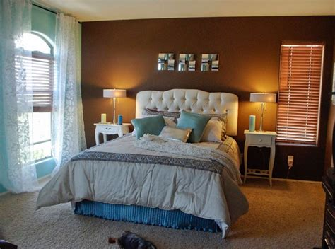 master bedroom color ideas brown light blue accent