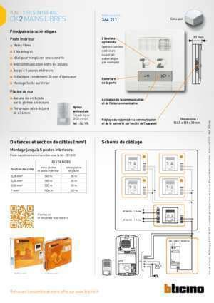 Schema De Cablage Kit Video Bticino