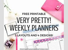 Pretty Weekly Planner Printables Free Download