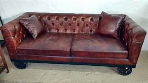 2 Sitzer Sofa Leder : leder sofa couch wohnlandschaft auf r der 2 sitzer braun industrie design loft ebay ~ Bigdaddyawards.com Haus und Dekorationen