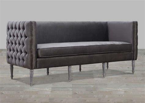 Velvet Sofa by Grey Velvet Sofa With Nailheads Tov S21s