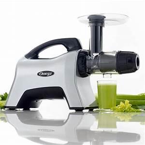 Omega Horizontal Slow Masticating Nutrition Center Silver Juicer-nc1000hds