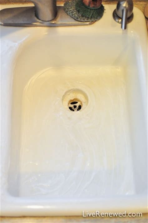how to clean white kitchen sink how to clean a white kitchen sink without harsh chemicals 8591