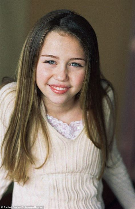 picture exclusive childhood modelling shoot  miley