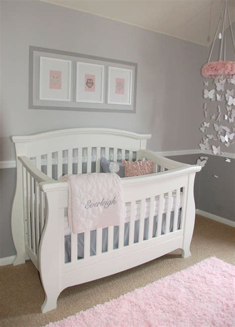 pink baby bedroom ideas love this nursery i m such a sucker for grey babies 16700 | d735d0bfeb6ed0ce4bffaed207fbeb28