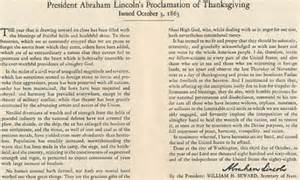 abraham lincoln s 1863 thanksgiving proclamation jeff schrembs