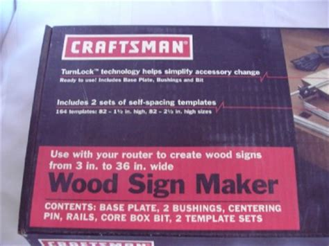craftsman wood sign maker  signs     wide
