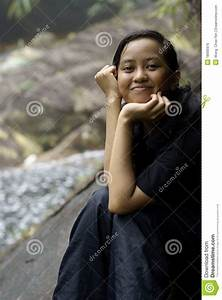 Smiling Asian Malay Teen Royalty Free Stock Images - Image ...