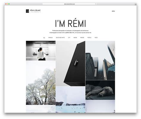 photography website templates 50 best photography themes 2018 colorlib