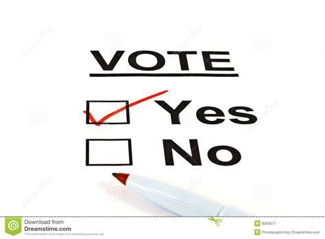 vote ballot form   checked stock image