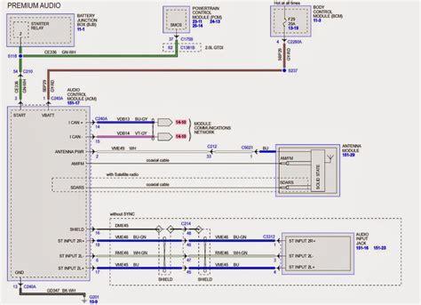 wiring diagram   ford taurus sho wsony sound