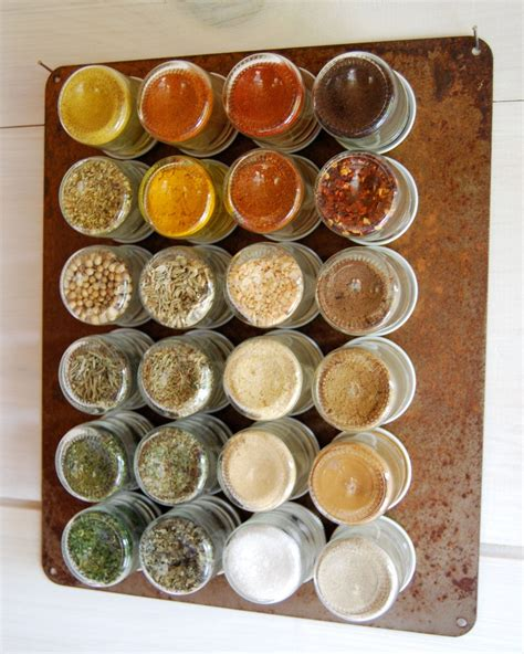 Organic Spice Rack by Rustic Everything Kit 24 Organic Spices Sted