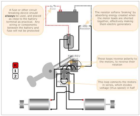 Modified Power Wheels Wiring
