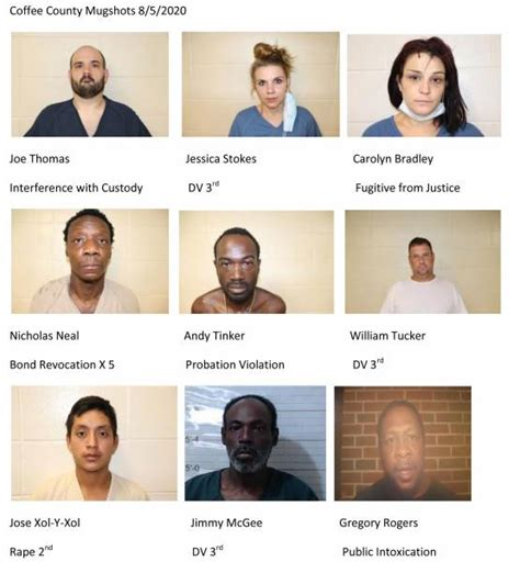 Coffee county news strives to connect the dots within our community through fresh features, daily content, and the latest local news. Coffee County Mugshots 8/5/2020 :: RickeyStokesNews.com!