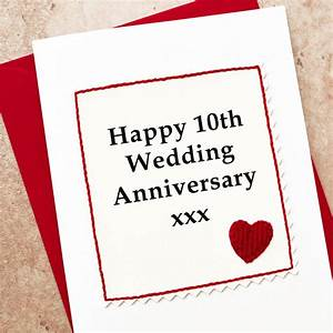 handmade 10th wedding anniversary card by jenny arnott With what to buy for a 10th wedding anniversary