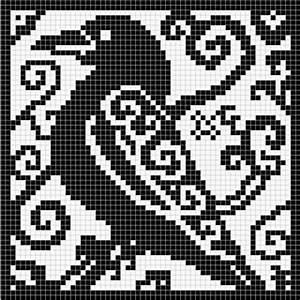 Ravelry: Spirit Raven Chart pattern by Melanie Nordberg