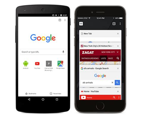 chrome android chrome voor mobiel