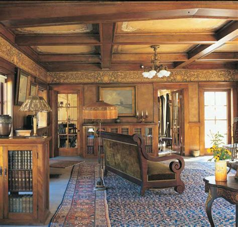 Arts And Crafts Home Interiors by Ceiling Beams In Between Ceiling Arts Crafts