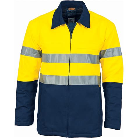 HiVis Two Tone Protect or Drill Jacket with 3M R/ Tape 3858 - Workwearlink & Embroidery
