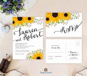 Sunflower wedding invitations by onlybyinvite wedding for Cheap wedding invitations with sunflowers
